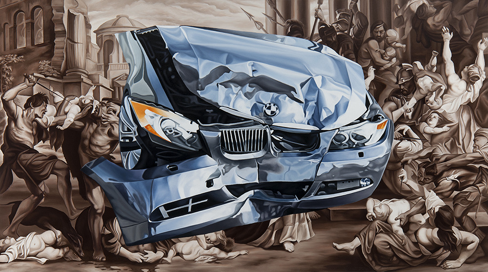 "CONTINGENCY MANAGEMENT,  2015 Oil on canvas  36"" x 64""    View Larger"
