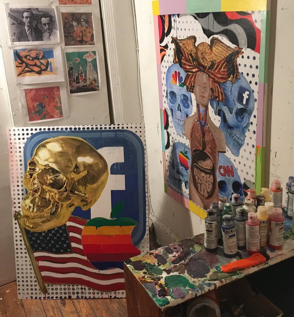 Noah Becker's art studio