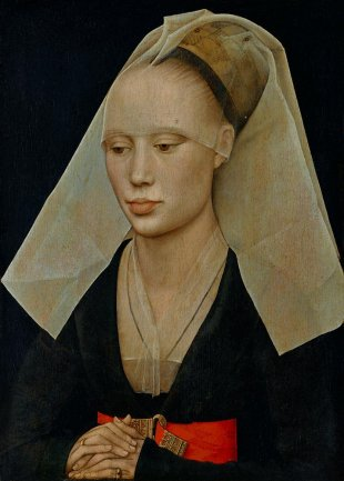 "Rogier van der Weyden   ""Portrait of a Lady""   c. 1460 oil on panel"